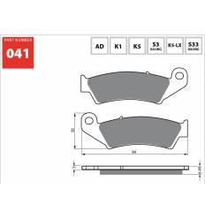 Тормозные колодки GOLD FREN K5 OFF-ROAD 041 (FA185)