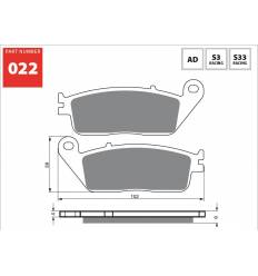 Тормозные колодки GOLD FREN Sintered S3 022 / FA142
